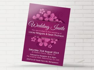 Ballymornay Purple Wedding Invitation