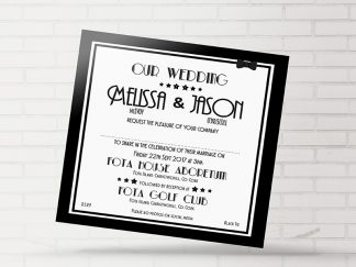Black Stylish Wedding Invitation