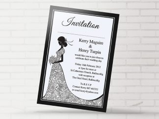 Simple Black & White Wedding Invitation