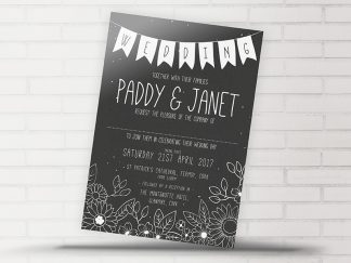Blackboard Wedding Invitation