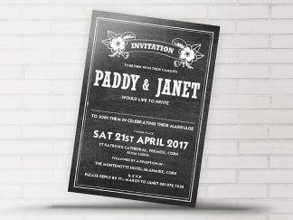 Chalk Black Invite
