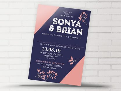 Moneyblay Modern Wedding Invitation