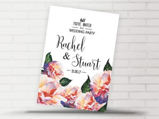 Rachel Floral Wedding Invitation