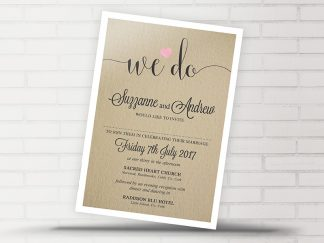 Rustic We Do Wedding Invitation