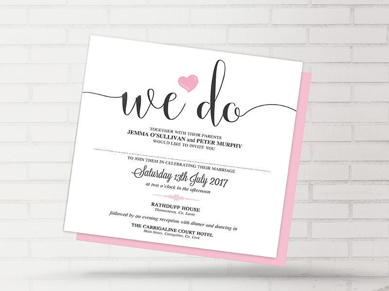 Heart Wedding Invitations Uk: We Do Heart Wedding Invitation