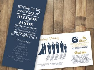 Wedding Day Program Idea DL