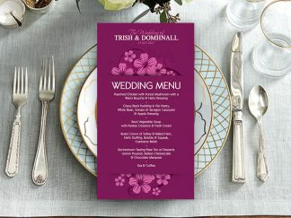 Ballymornay Purple Wedding Menu