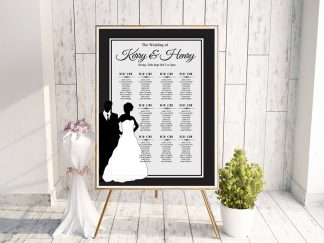 Black & White Bridal Silhouette