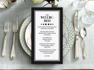 BlackDeco Wedding Menu