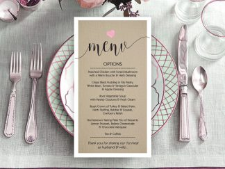 We Do Rustic Wedding Menu