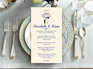 Umbrella Couple Wedding Menu
