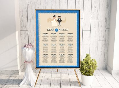 Classic Royal Blue Couple Table Plan