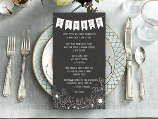 ChalkBlack Wedding Menu