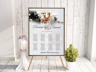 Champagne Floral Table Plan