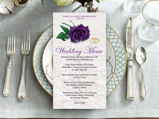Hanlon Purple SnowRose Wedding Menu