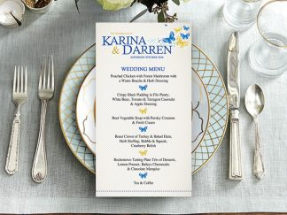 Karina Butterfly Wedding Menu