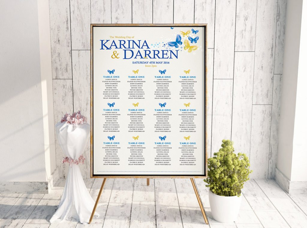 Karina Butterfly Table Plan