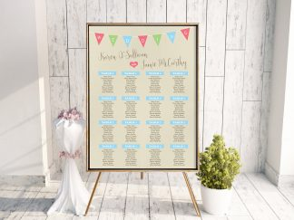 Light Rustic Bunting Table Plan