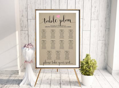 Rustic We Do Table Plan