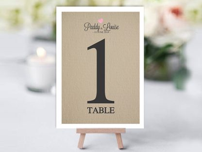 Rustic We Do Table Name