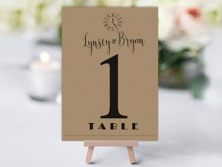 Shine Rustic Table Name