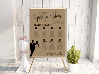 Shine Rustic Table Plan