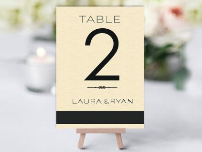 Simple Black & Ivory Table Name