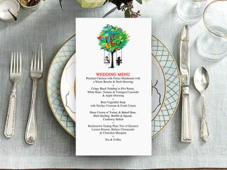 Spicer Tree Wedding Menu