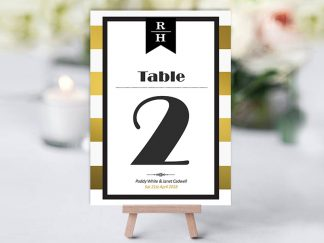 Trinian Gold Stripe Table Name