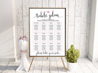 We Do Heart Table Plan