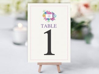WaterColour Square Table Name