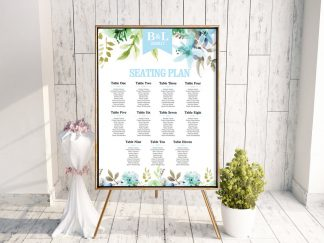 WaterFloral Wedding Table Plan