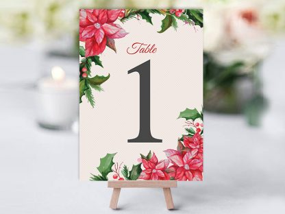 Xmas Floral Table Name