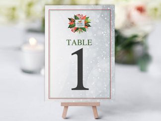 Xmas Holly Floral Table Name