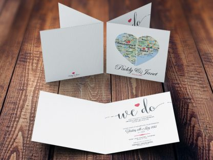 County Hearts Wedding Invites