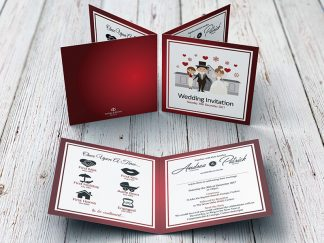 Dowling Family Wedding Folding Invite