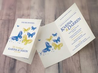 Karina Butterfly Wedding Invites