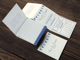 SarGriff Cream Tri Fold Invite