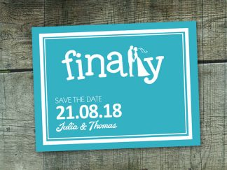 Finally Save The Date Card