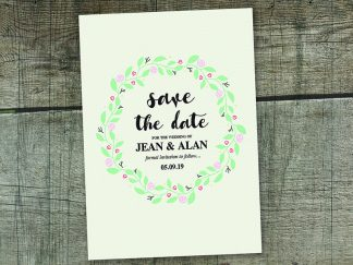 Simple Floral Ring Save The Date