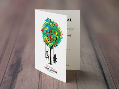 Spicer Tree Wedding Invitation Folding Invite