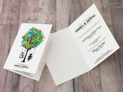 Spicer Tree Wedding Folding Invite Front