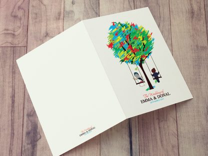 Spicer Tree Wedding Folding Invite