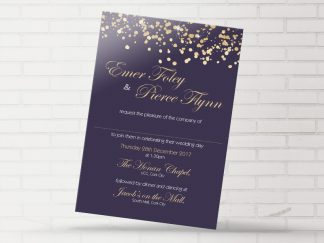 Gold Glitter Wedding Invitation
