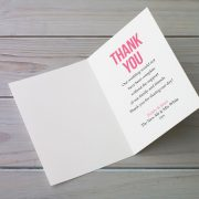 Wedding Thank You Card Message Inside