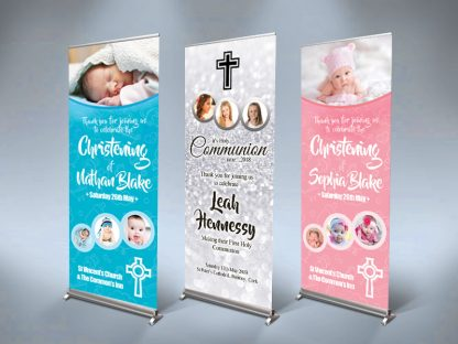 Christening & Communion Roll Up Banners