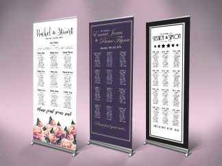Table Plan Wedding Roll Up Banners