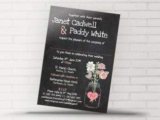 Boho Blackboard Wedding Invitation