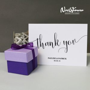 Thank you card with gift box