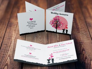 Young Loves Dream Themed Wedding Invitation